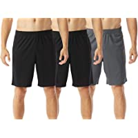 TEXFIT 3-Pack Men's Gym Shorts with Quick Dry Mesh Fabric, Athletic Shorts