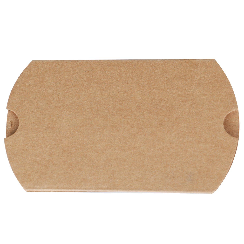 Trixes 100 St/ück Braune rustikale DIY Geschenkboxen in Kissenform mit Bindfaden als Kleines Zeichen der Anerkennung Oder Gunstbezeugung//Danksagung Bei Hochzeiten und Anderen Gelegenheiten