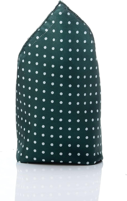Pochette verde oscuro de lunares blancos hombre DANDY corbata ...