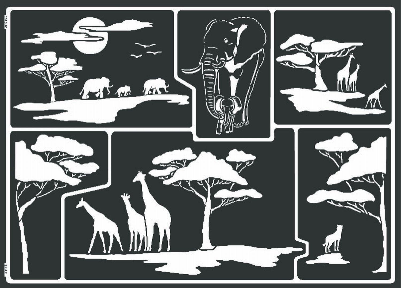 Kreul 74806 - Window Style Schablone Afrika: Amazon.de: Spielzeug