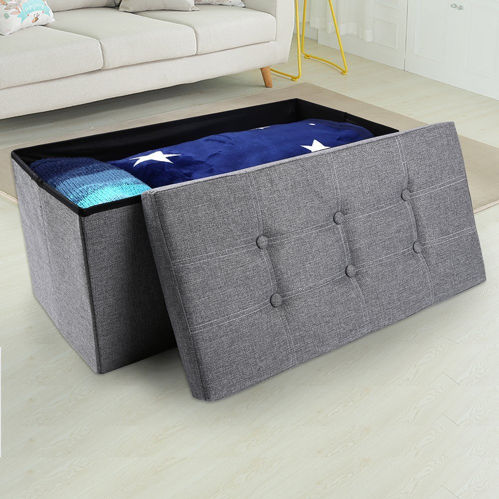 Incredible 50 Off Epeanhome Storage Ottoman Folding Storage Bench Forskolin Free Trial Chair Design Images Forskolin Free Trialorg