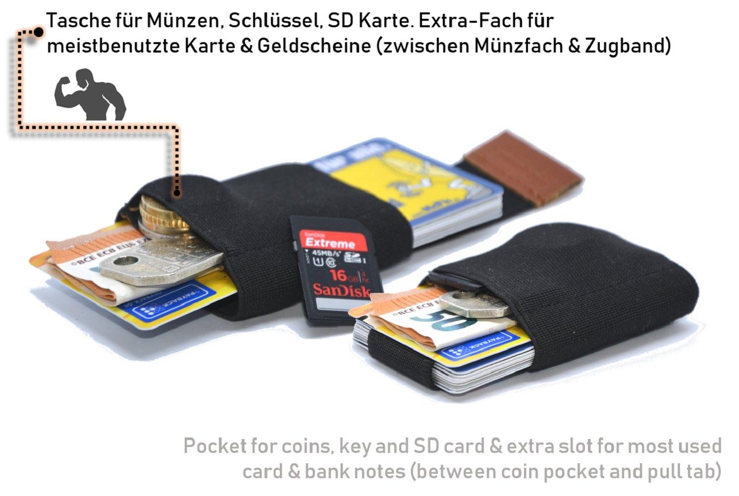 Porte-Carte Slim Wallet MakakaOnTheRun Mini Portefeuille Petit Portefeuille /étui pour Carte de cr/édit