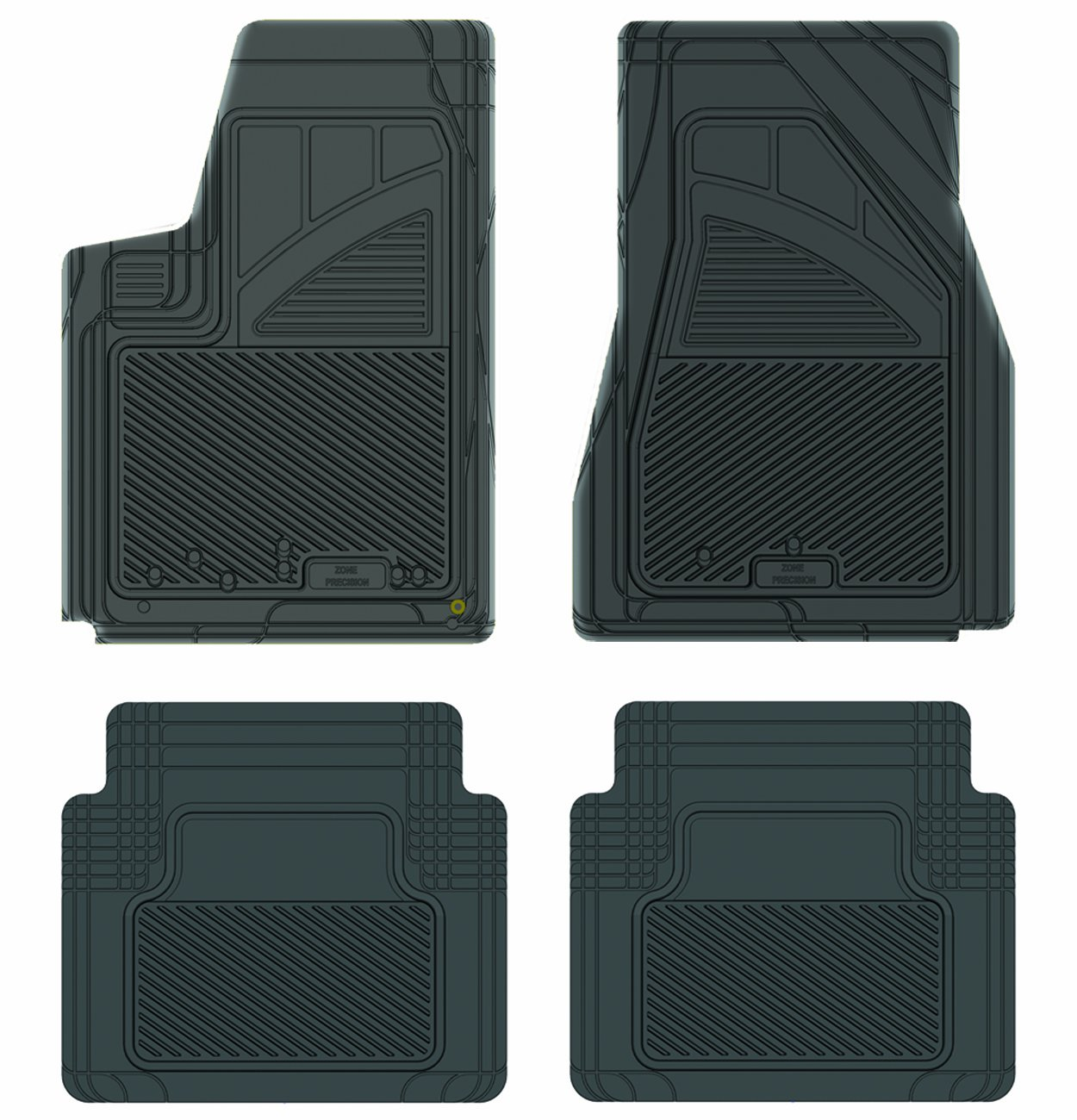 Grey Koolatron Pants Saver Custom Fit 4 Piece All Weather Car Mat for Select Dodge Magnum Models
