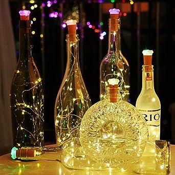 Led Flaschen Licht Aushen Warmweiss Kupferdraht Korken Licht Mit Rgb