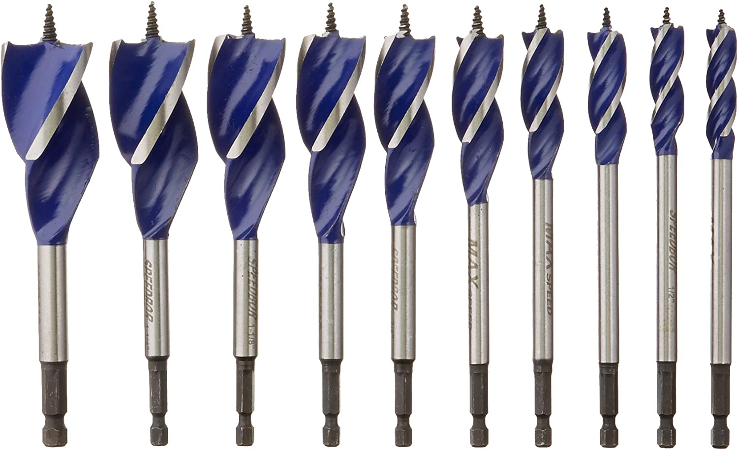 Bohrcraft Spiral Drill Bit DIN 338/ High-Speed Steel E Split Point Type TI Profi Plus 10/ mm in Quadro Pack Pack of 5/ 11410301000