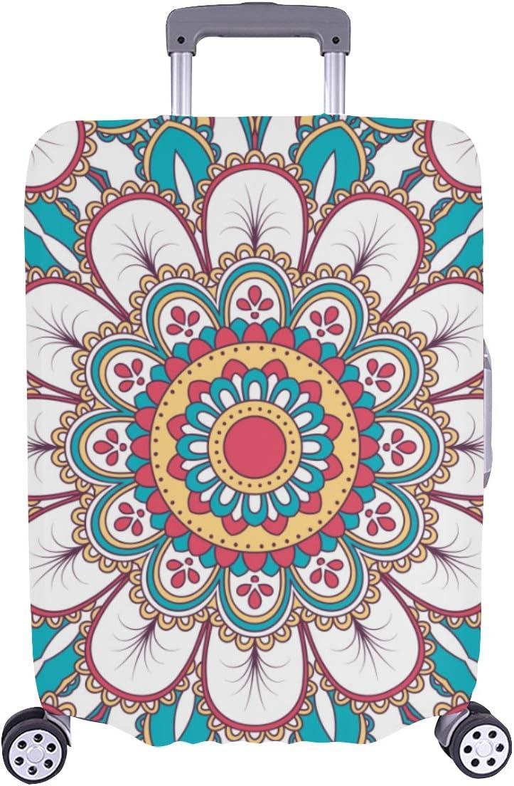 Cubra el Protector del Equipaje Mandala Antigua Trible Geométrica Durable Funda Lavable Se Adapta a 28.5 X 20.5 Pulgadas Maleta Protector de la Cubierta Cubiertas del Equipaje de Viaje Cubierta Prote