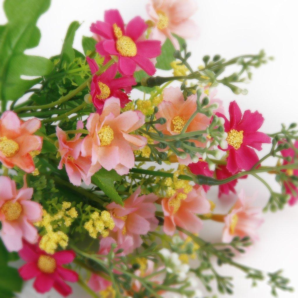 Amazon cjeslna 1 bunch cineraria artificial flower bouquet home amazon cjeslna 1 bunch cineraria artificial flower bouquet home office decor rose red and pink home kitchen izmirmasajfo