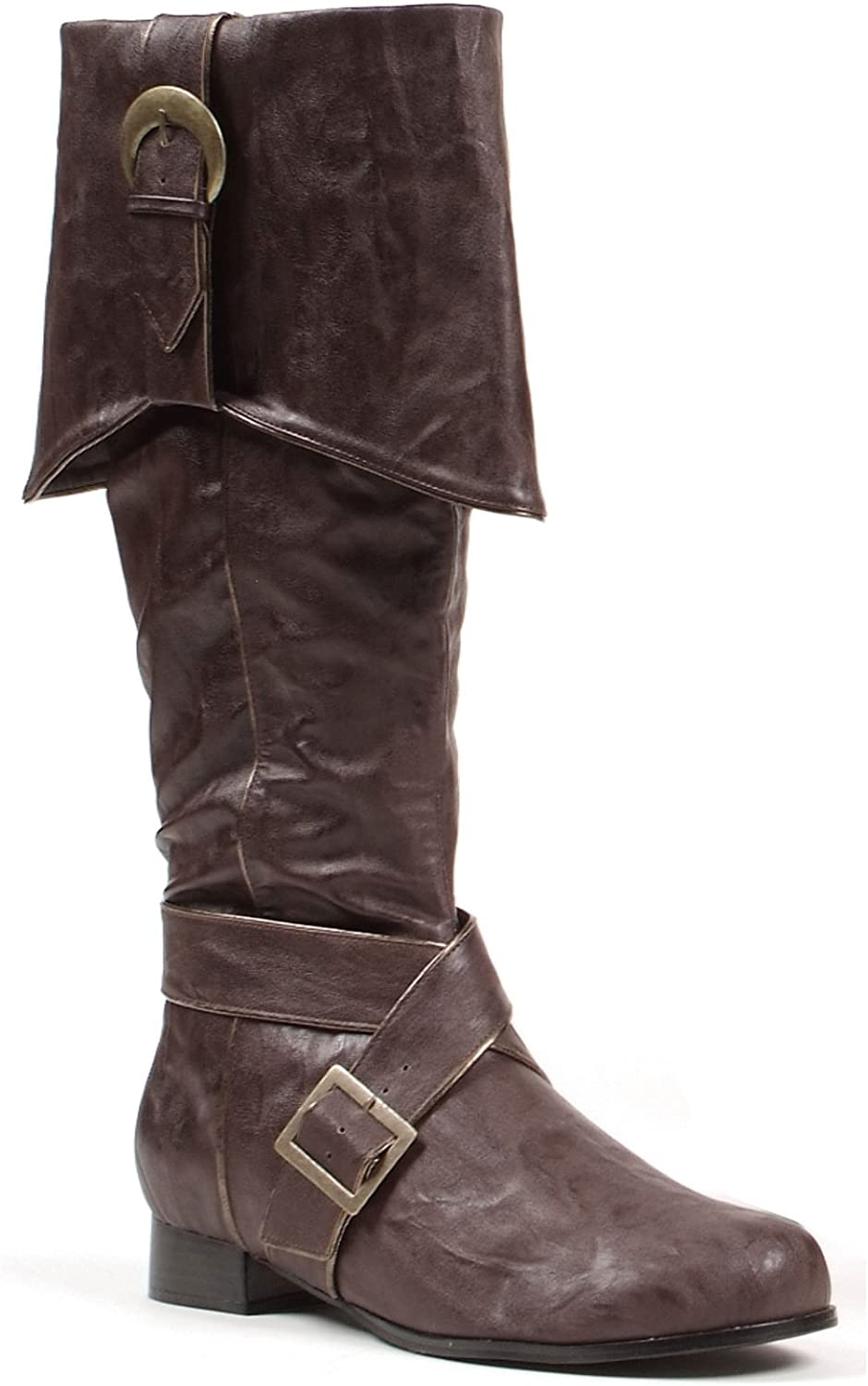 "Ellie Shoes Men's 1"" Heel Knee High Pirate Boots"