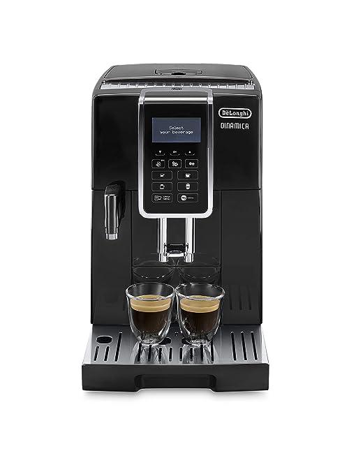 Delonghi Dinamica Ecam350.55.B - Cafetera superautomática, 1450w, función cappuccino, personalización variedad de bebidas, panel de control intuitivo ...