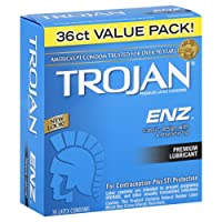 Trojan Condom ENZ Lubricated, 36 Count