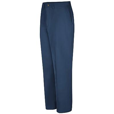 Red Kap Men's Plain Front Cotton Pant: Clothing