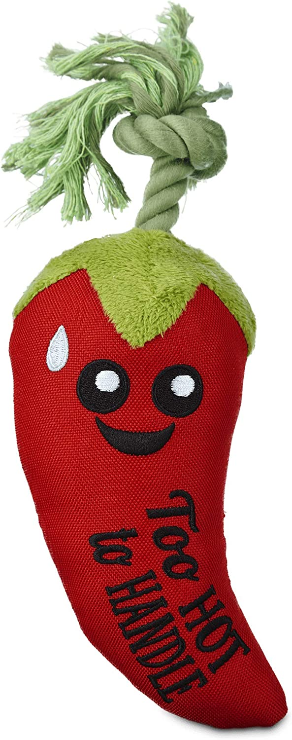 Leaps & Bounds Play Plush Chili Pepper Assorted Dog Toy