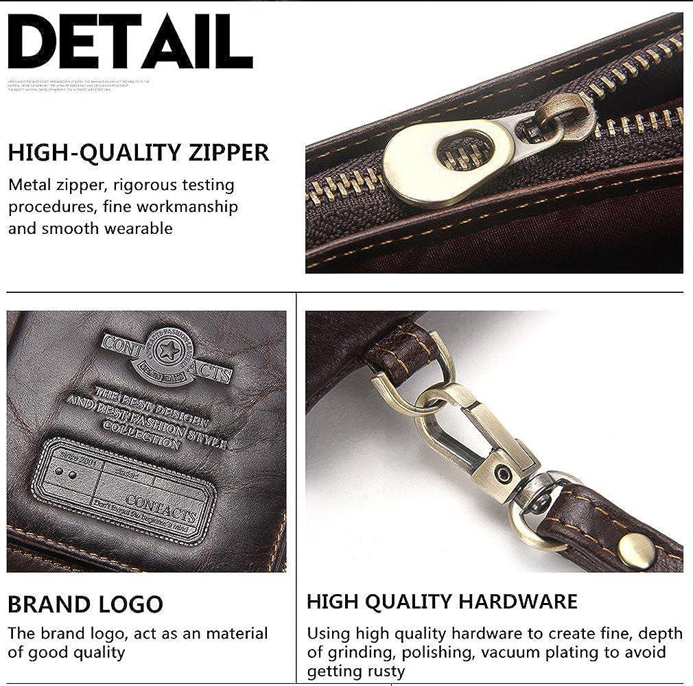 Real Leather Men Women Card Bill Change Photo Phone Holder Clutch Purse Wallet