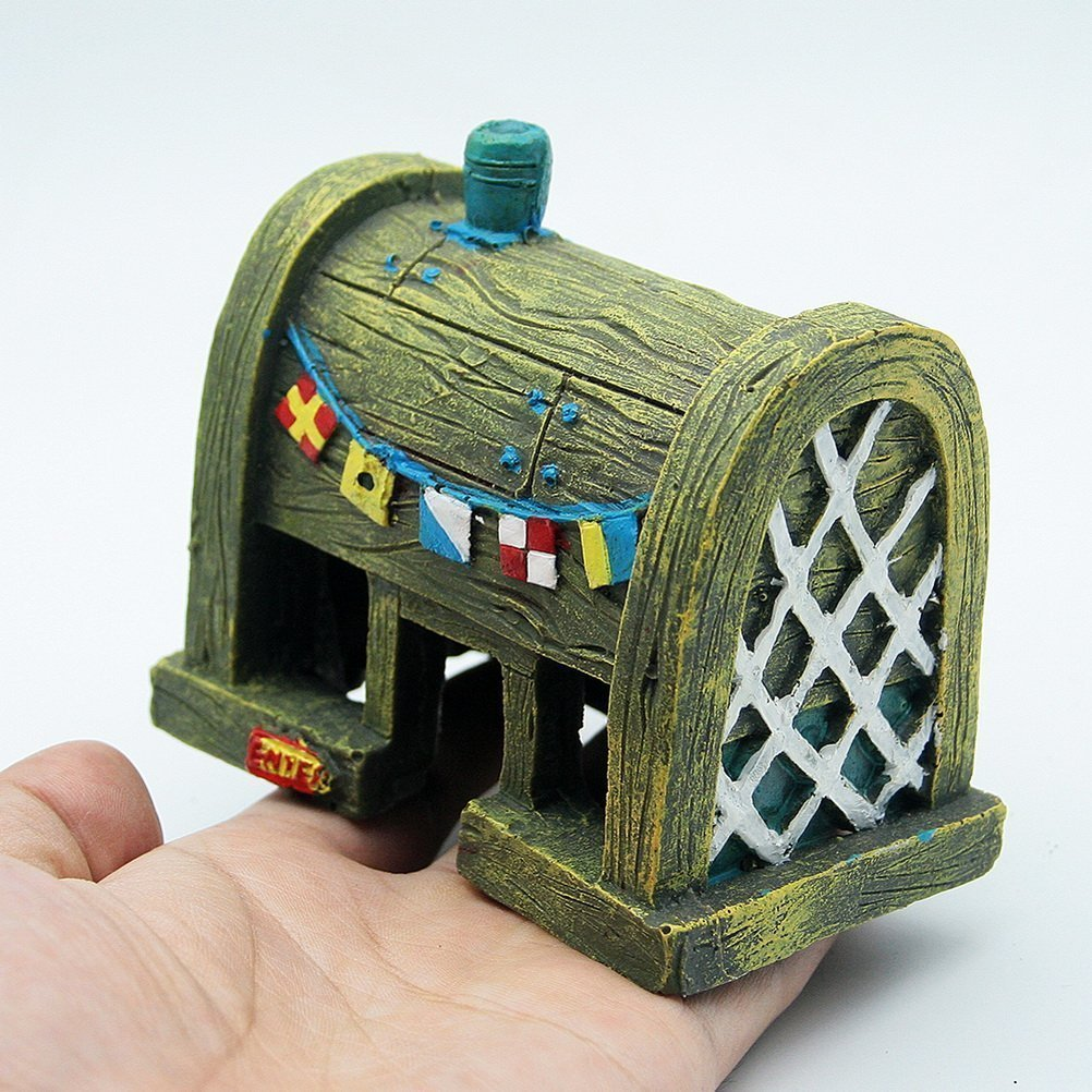 Casa de cangrejos para decoración de acuario de peces de Philna12.: Amazon.es: Productos para mascotas