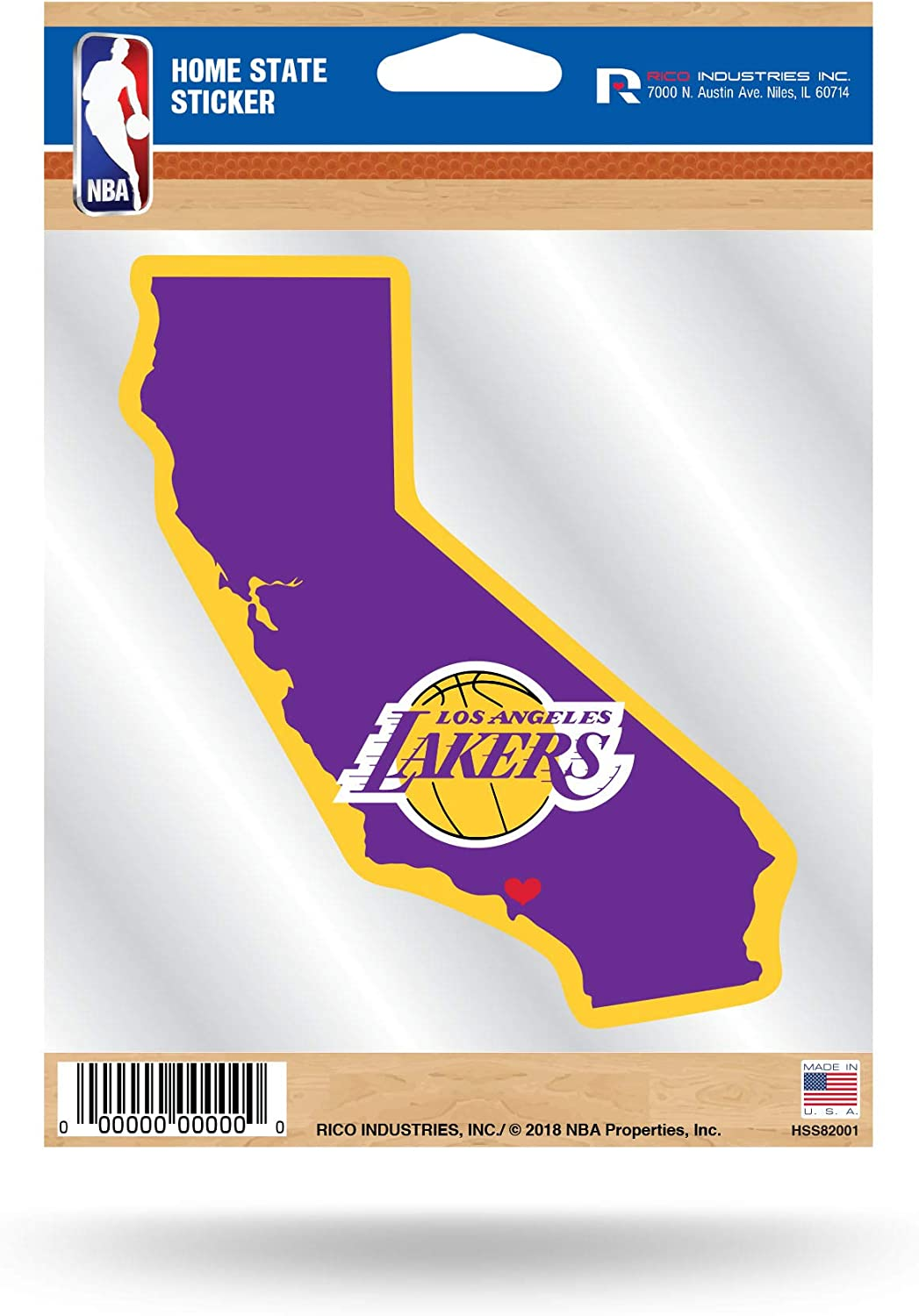 Rico Industries NBA Home State Sticker