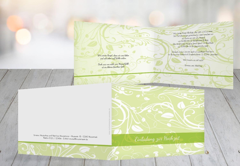 Kartenparadies Hochzeitskarte Hochzeit Einladung Blättertraum 2, hochwertige Einladung zur Heirat inklusive Umschläge   10 Karten - (Format  148x105 mm) Farbe  Schwarz B01N9TWRDE | Die Farbe ist sehr auffällig  | Kaufen Sie online  | New Listi