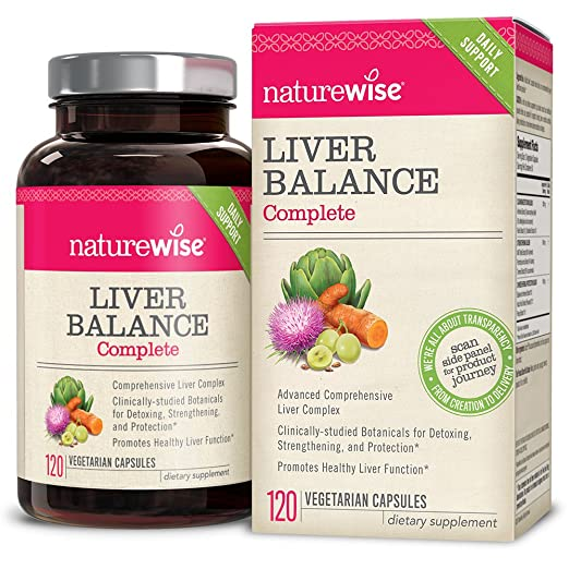 NatureWise Liver Health Premium Formula w/ Milk Thistle, Curcumin & Artichoke, Advanced Protection, Superior Bioavailability, 120-ct