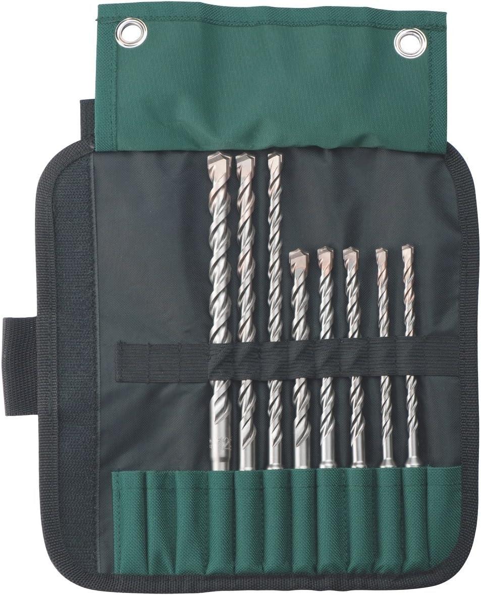 Set of 8 Piece Metabo 631715000 Sds-Plus Pro 4 Drill Bit Set Green