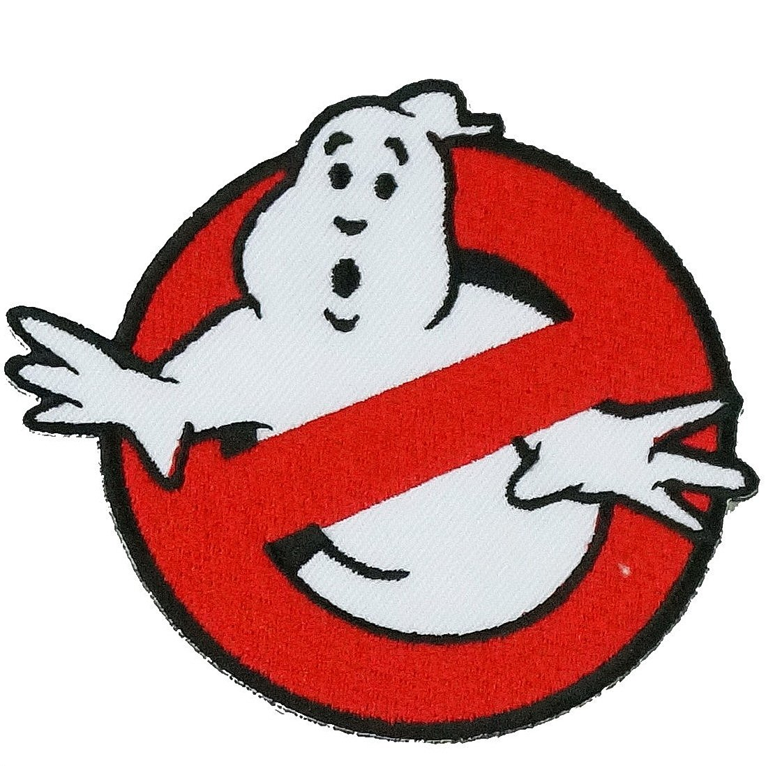 Graphic Dust Lot of 3 Ghostbusters Embroidered Iron On Patches and 1 Heart Patch (Green)