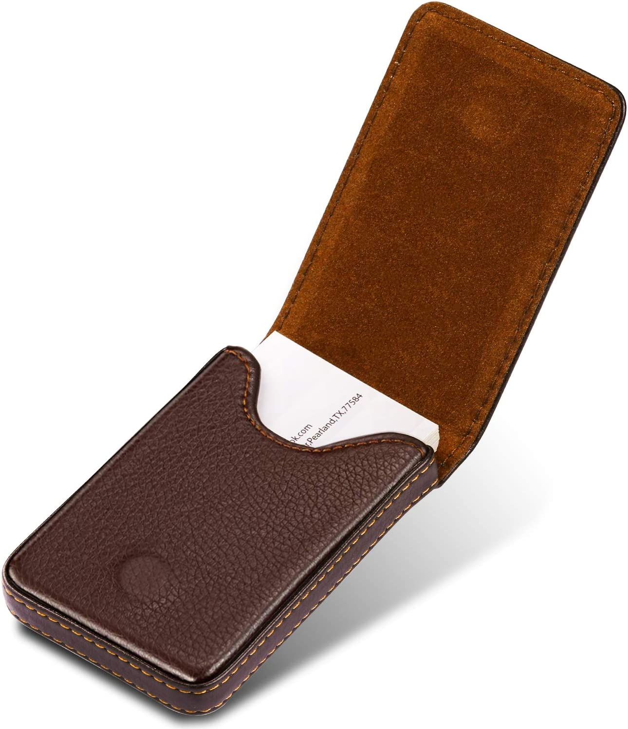 MaxGear Leather Business Card Holder Case for Men or Women Name Card Case Holder