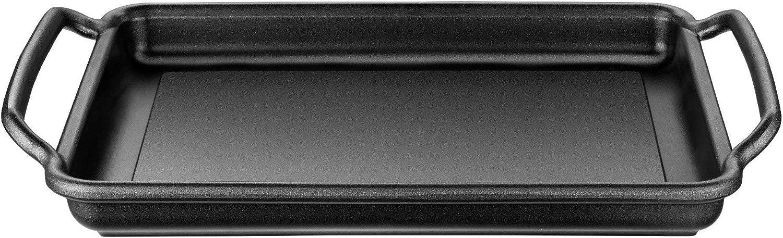 Monix Solid+ - Plancha plana 40 cm de aluminio fundido con antiadherente Teflon® Classic.