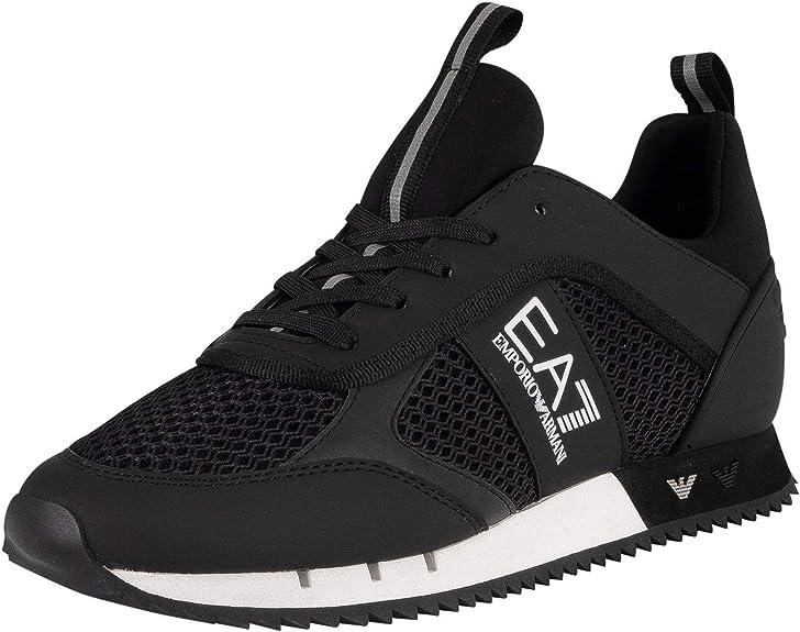 EA7 Mesh Sneaker Trainers Black 10 UK
