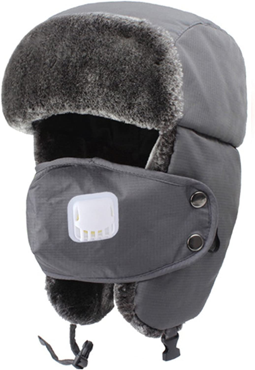 Youngate Mens Winter Warm Bomber Caps Ear Windproof Faux Leather Trooper Hat