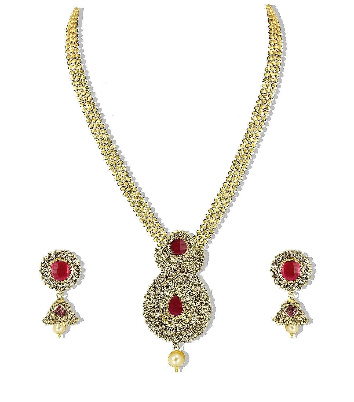 Buy YouBella Traditional Multi Strand Necklace Set / Jewellery Set ...