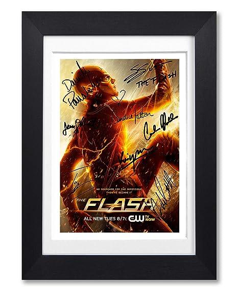 El Flash del molde de la firma firmada autografiados A4 ...