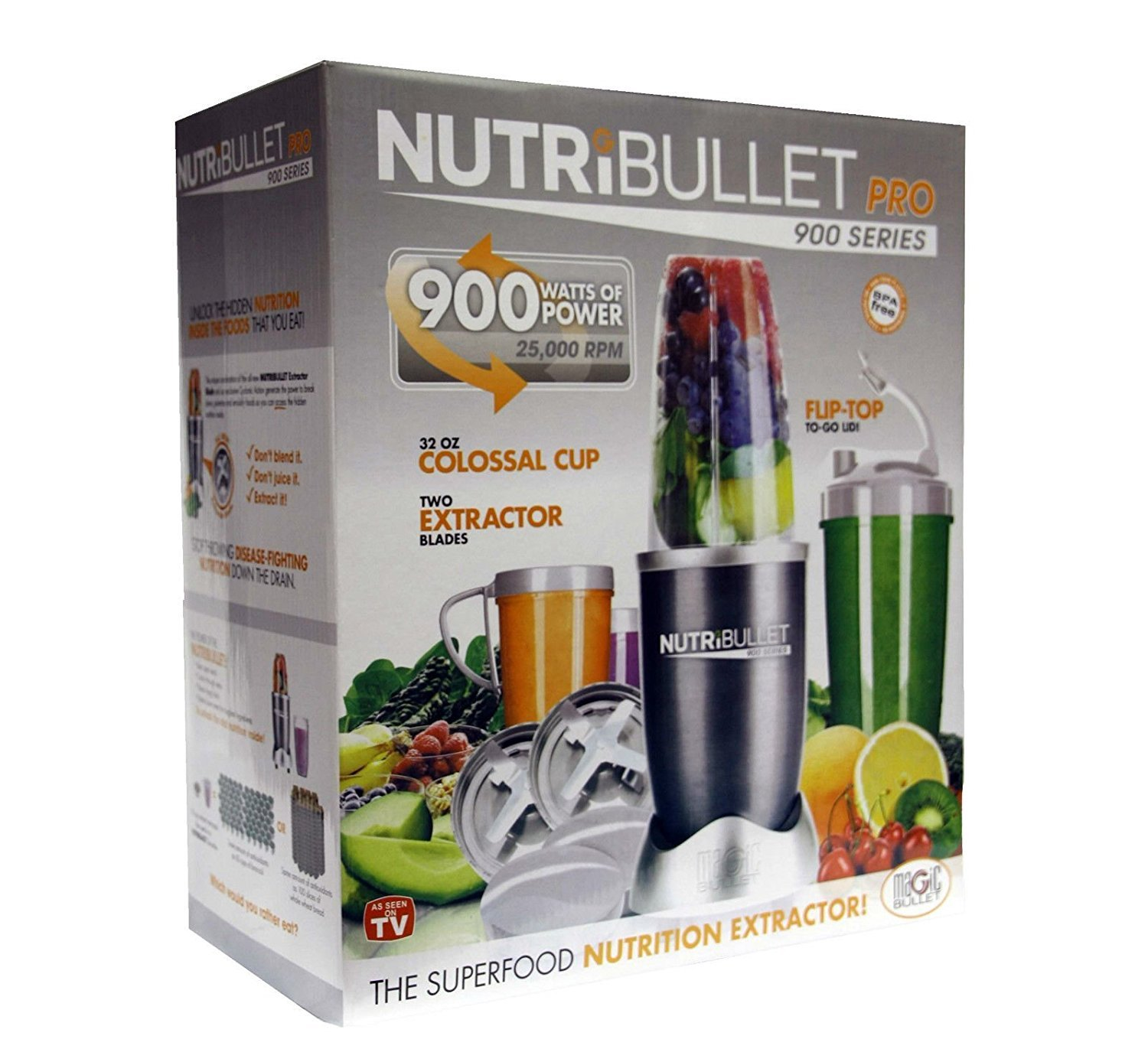 NUTRIBULLET PRO 900W SERIE NUTRI BULLET 15 pezzi, con Superfood MISCELATORE MAGICBULLET