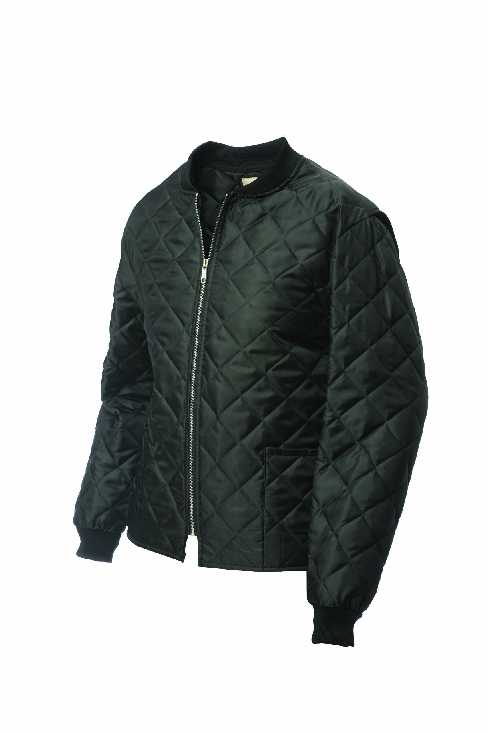 Work King Men's Quilted Freezer Jacket, Black, 4X-Large