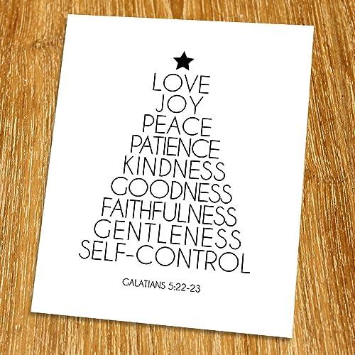 amazon com galatians 5 22 23 love joy peace print unframed
