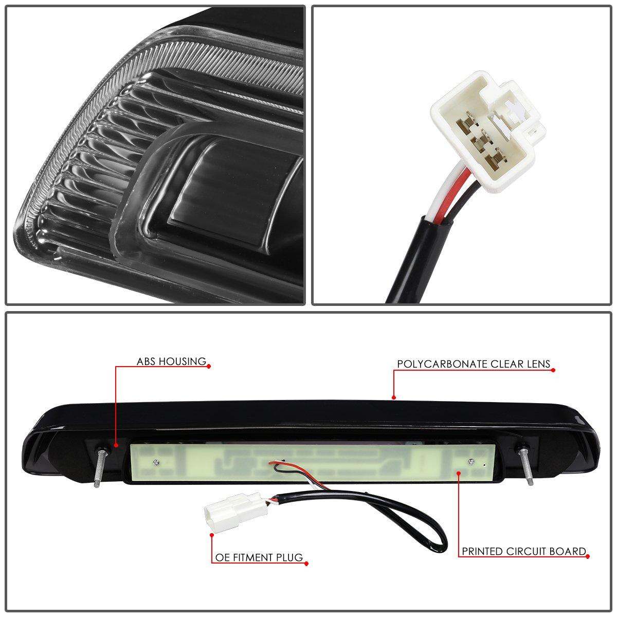 for 07-18 Tundra DNA Motoring 3BL-TTU07-3D-LED-BK 3D LED Bar Third Brake//Cargo Light Black//Clear