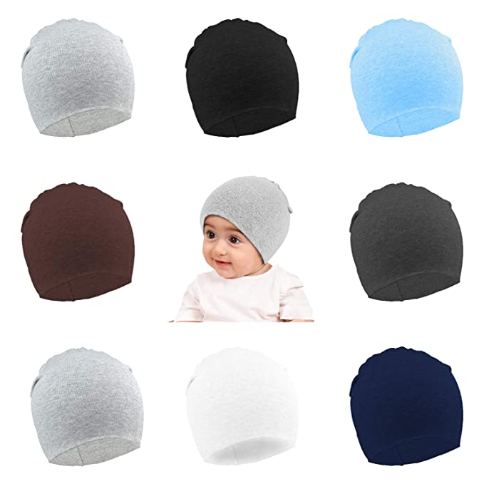 6938bb2fb Amazon.com: Vetoo 8 Pack Toddler Beanies,Unisex Baby Knit Hat Infant ...