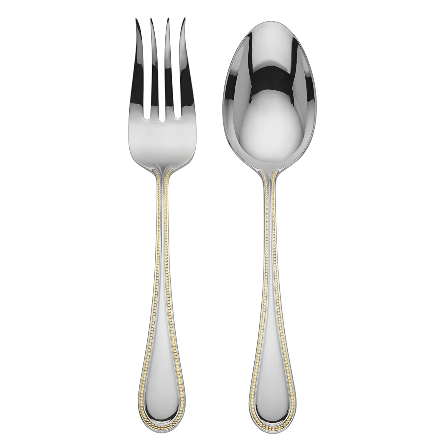 Reed & Barton Lyndon Gold 2 Piece Salad/Serving Set, Silver 869669