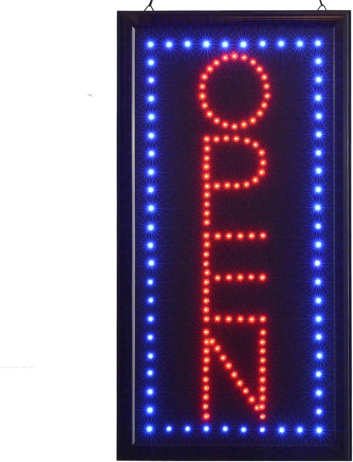 LED ATM Sign for Business Displays 27H x 11W x 1D Vertical Electronic Light Up Sign for Restaurants Convenience Stores
