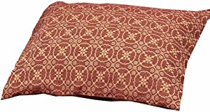 """Home Collection by Raghu Marshfield Jacquard Barn Red and Tan Pillow Sham, 21"""" x 31"""""""