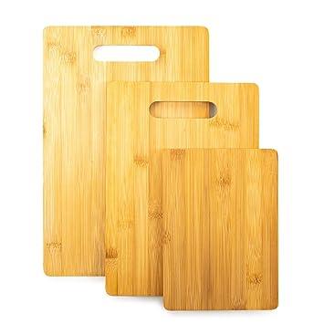 Home Treats Set de 3 tablas de cortar de bambú para cocinar 3f3d4269403b