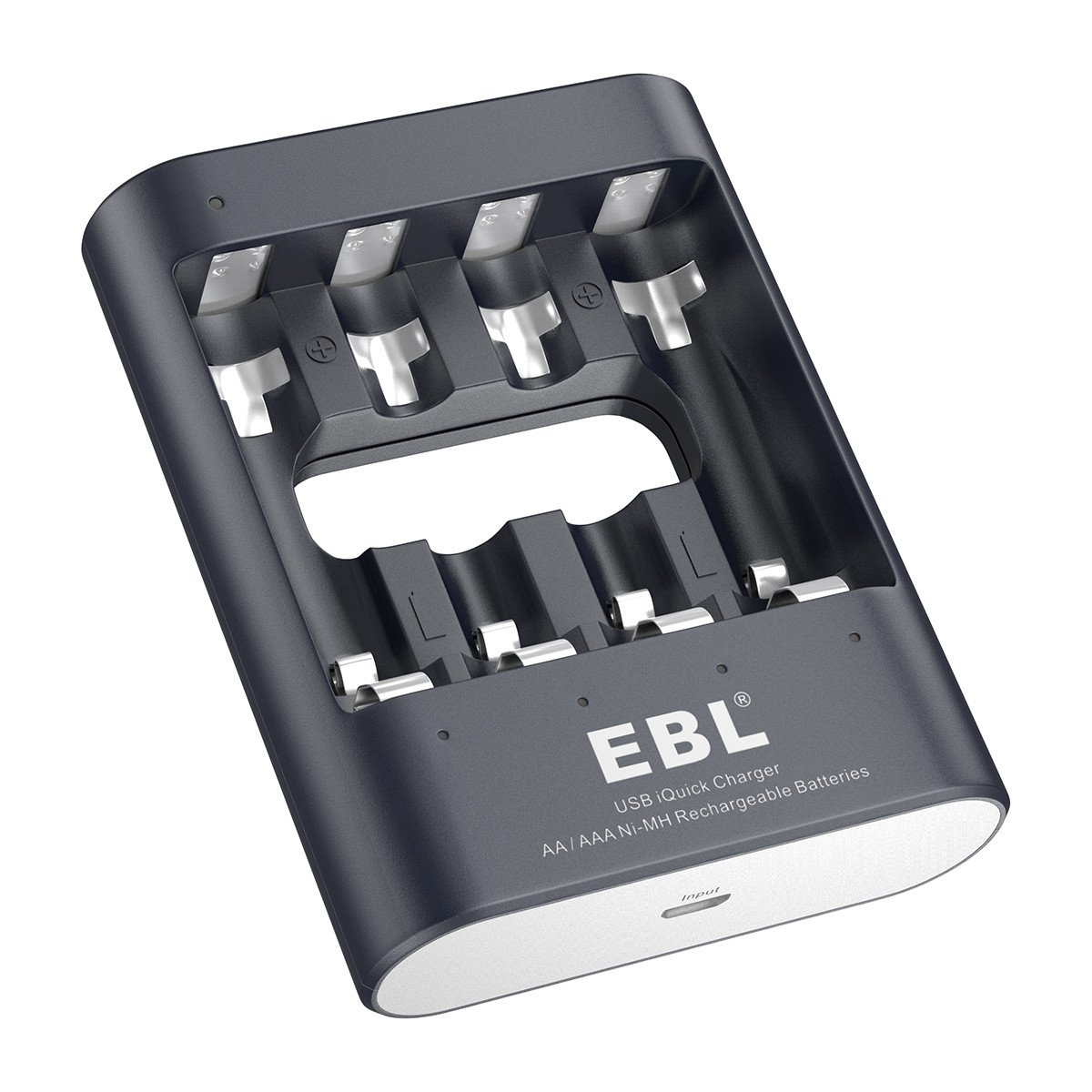 Amazon.com: EBL 40Min iQuick Smart USB Individual Battery Charger for AA AAA  Ni-MH Rechargeable Batteries: Home Audio & Theater