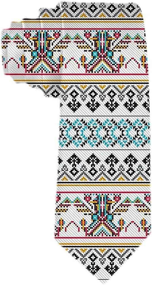 Azteca Pixel Pattern Classic Men s Tie Corbata de seda Woven ...