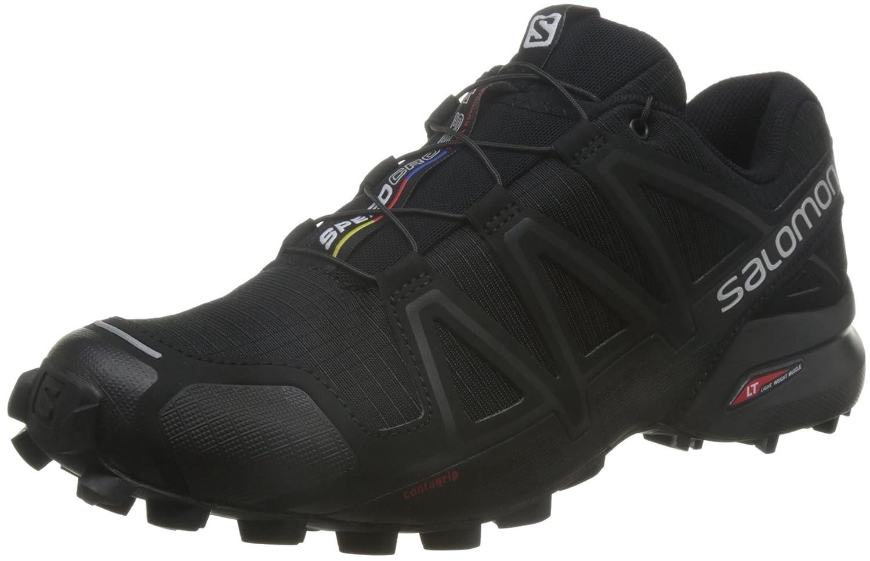 Salomon Hombre Speedcross 4, Calzado de Trail Running 48|noir/noir/noir