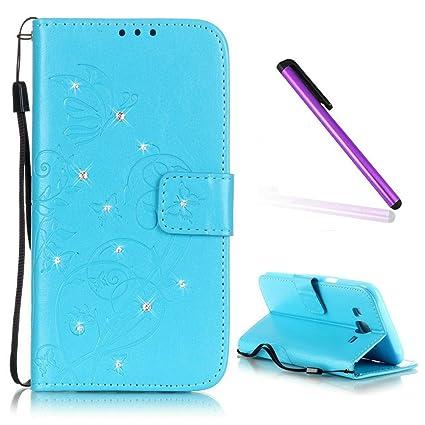 Amazon.com: EMAXELER - Funda con tapa para Samsung Galaxy J1 ...