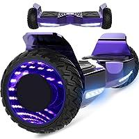 Markboard Gyropode Bluetooth Hummer 6.5 Pouces, Balance Board Scooter SUV Tout-Terrain, avec LED, Smart Scooter Overboard, EL-ES06
