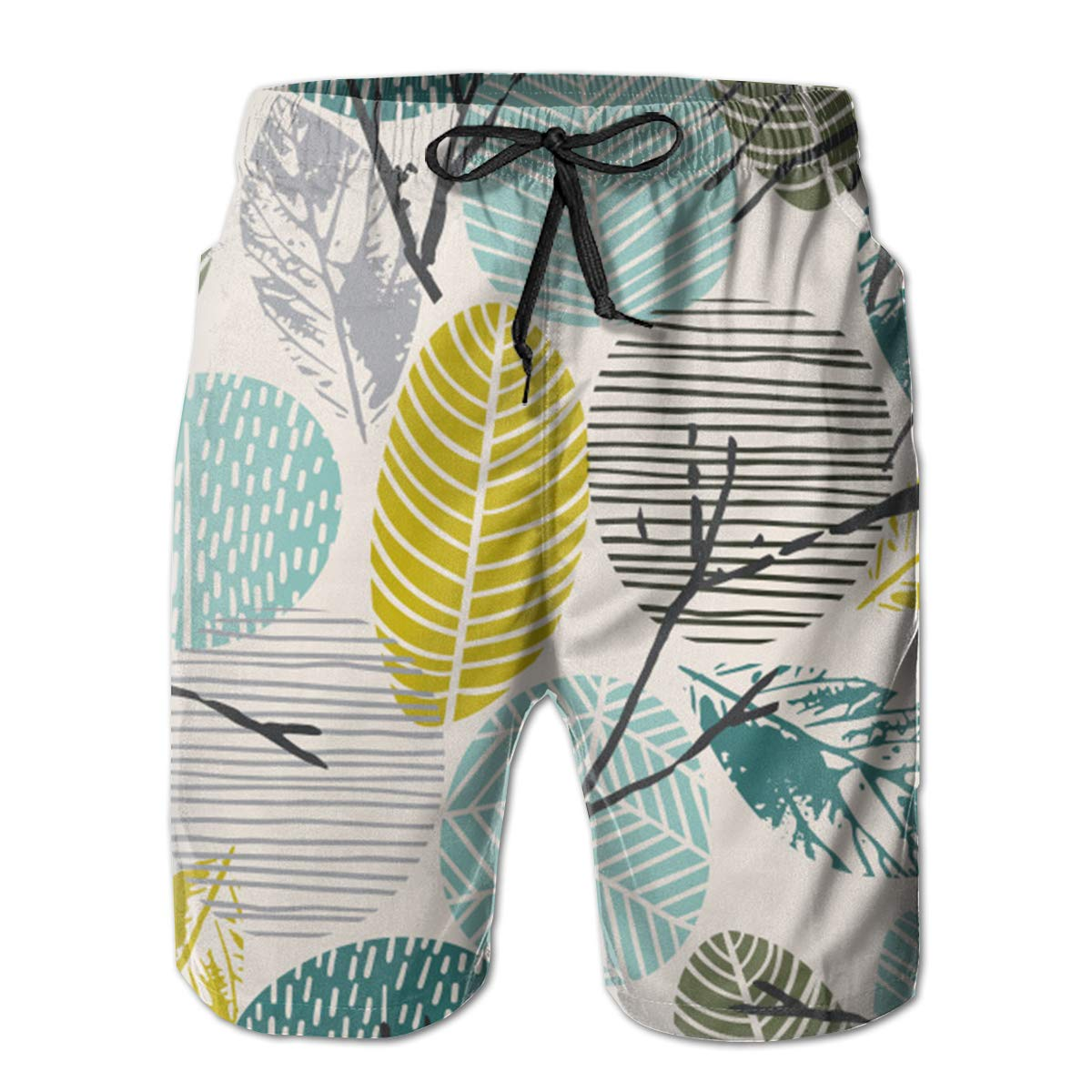 EYFlife Abstract Autumn Leaves Pattern Men/'s Beach Board Shorts Quick Dry Swim Truck Shorts