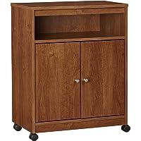 Ameriwood Home Landry Microwave Cart, Brown Oak
