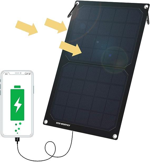 Renogy E.FLEX 10W Foldable Solar Panel w// 5000mAh Power Bank USB Phone Charger