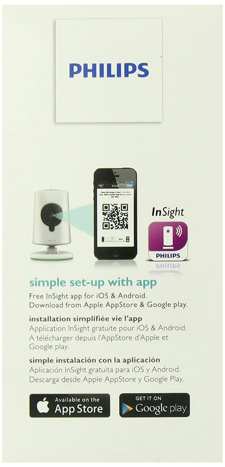 Amazon.com : Philips B120E/37 InSight Wireless HD Baby Monitor Video Camera (White) (Discontinued by Manufacturer) : Avent Monitor : Baby