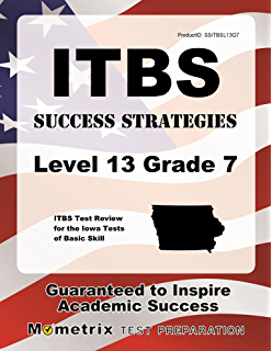 Amazon cogat practice test grade 7 and 8 ebook bright minds itbs success strategies level 13 grade 7 study guide itbs test review for the iowa fandeluxe Images
