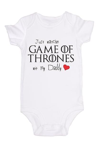 Jovigear Just Watching Got Wit My Daddy Game Of Thrones Baby Onesie Newborn Top 6m White Amazon In Baby