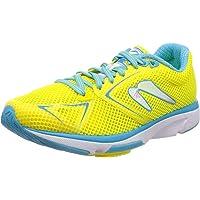 Newton Running Distance Stability 8 - Calzado Deportivo de Running para Mujer, Amarillo/Blue